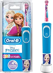 Oral-B 欧乐B Stages Power 儿童可充电式电动牙刷,包含《冰雪奇缘》人物形象,一个手柄,一个刷头,适合3岁以上儿童使用的英国2针插头,用于刷掉圣诞礼物和糖果(包装可能不同)