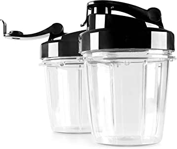 Eculina 杯,适合冰沙制作机 透明的 2x 400 ml