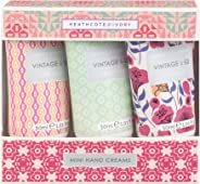 Vintage & Co 30ml 面料和花朵迷你手霜(3 件装)