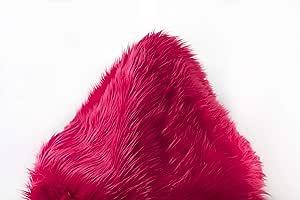 假毛皮宽松面料按码出售 紫红色 SHAGS1