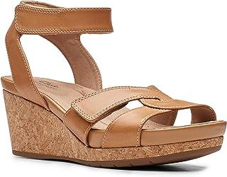 Clarks 女士 Un Capri Strap 坡跟凉鞋