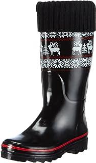 BECK rentier ,女式保暖内衬橡胶靴长轴靴 & bootees