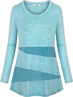 Sixother 女式健身上衣冬季健身锻炼衬衫速干运动服