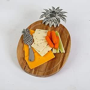 Picnic Plus Acacia 木奶酪板搭配奶酪刀 菠萝色