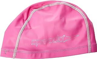 Speedo速比涛青少年双层泳帽JuniorPaceCap男女长发适用型