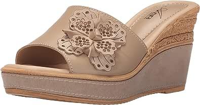 Azura by Spring Step Montanara 女士坡跟凉鞋 米色 40 欧盟/9 M 美国