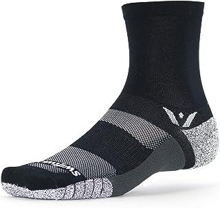 Swiftwick- FLITE XT 五双袜子内置交叉贴合和训练 - GripDry 纤维,AnkleLock 技术,船袜