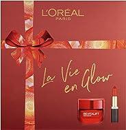 L'Oreal Paris 巴黎欧莱雅 La Vie En Glow 保湿霜&口红礼品套装