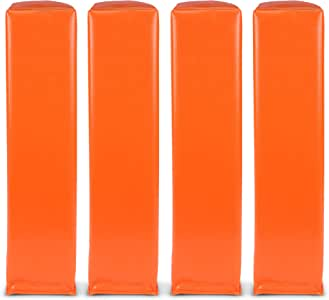 GoSports 橄榄球端区尼龙 | 4 件套 | 规定尺寸 45.72 厘米 x 10.16 厘米 沙子加重无锚橄榄球球标。