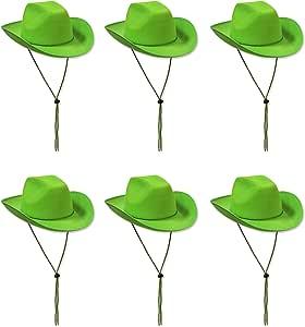 Beistle 60846 6-Piece LG Felt Cowboy Hat