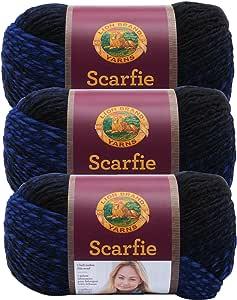 (3 件装)狮子品牌纱线产品编号 826 - Scarfie 纱线 黑色 826-210