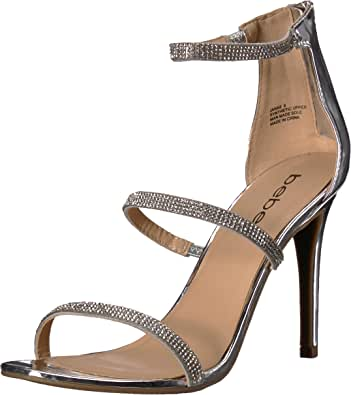 Bebe Womens Janae Open Toe Special Occasion Espadrille Sandals, Silver, Size 7.5 US