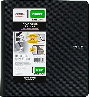 五星 2.54 cm 3 环活页夹,塑料,黑色 (38894)