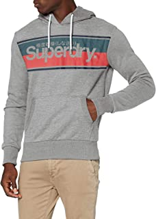 Superdry 极度干燥 男式核心条纹连帽运动衫