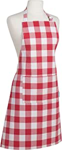 Now Designs Basic Apron, Picnic Check Red
