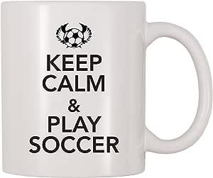 4 All Times Keep Calm And Play 足球马克杯 白色 11 oz Mug061