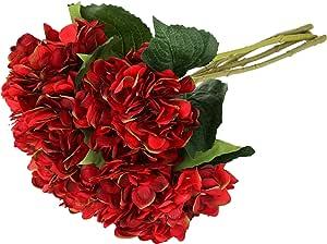 EZFLOWERY 人造水彩花朵 红色