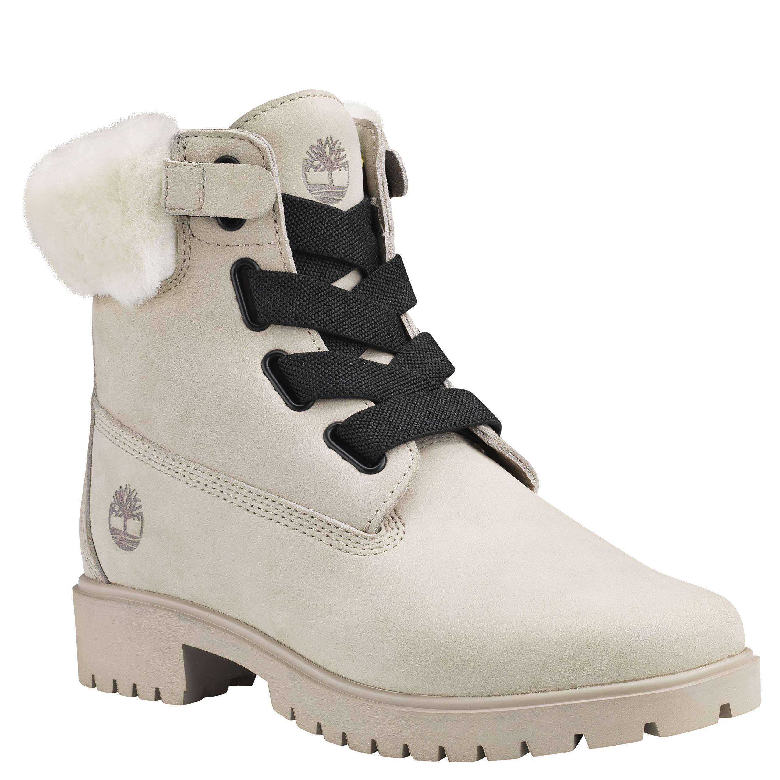 Timberland 女士 Jayne 6in Wp Shearling 便利靴