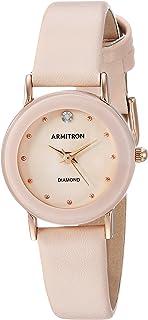 Armitron 女式 75/2447 钻石装饰手表 带皮革表带