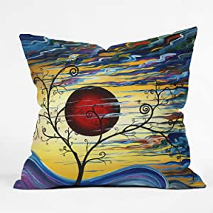 DENY Designs Madart Curling with Delight Throw Pillow
