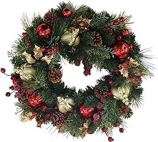 The Wreath Depot 女王装饰圣诞花环,55.88 厘米