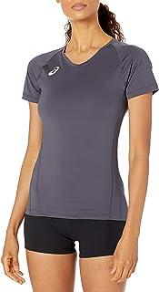 ASICS 女式 Spin Serve 排球运动衫短袖