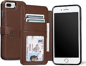 Sena WalletBook 经典,优质皮革防摔钱包式手机壳 iPhone 7 PlusSFD28106GBUS 棕色(Toffee)