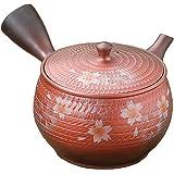 YAMAHI 常滑烧 玉光火窑变樱茶壶 L434