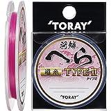 东丽(TORAY)线 将鳞 へら TYPEーII道糸 50m 1.2号 激烈粉色