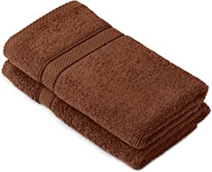 Pinzon 埃及棉 725 克毛巾套件,2 只手 可可色 2 Hand