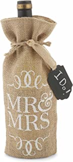 Mud Pie Mr. and Mrs. Burlap 酒瓶袋