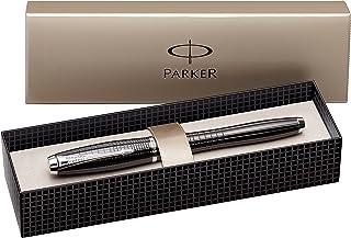 Parker Urban Premium Ebony Metal Chiseled, Fountain Pen, Medium nib with Blue ink (S0911470)