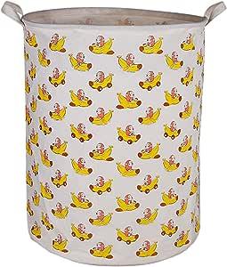 CLOCOR 大存储桶棉储物篮带手柄的圆形礼品篮,洗衣,婴儿托儿所