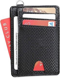 超薄极简主义前袋 RFID 屏蔽钱包,男士信用卡包,带 D 形扣