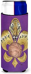 Tiger Fleur de lis Basketball Michelob Ultra Koozies for slim cans 8478MUK 多色 Slim