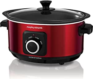Morphy Richards Slow Cooker Sear and Stew 460014 3.5L Red Slowcooker