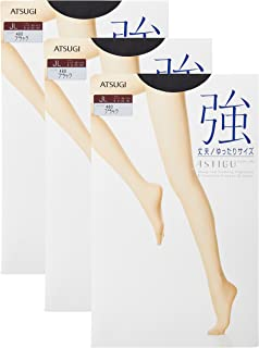 ATSUGI 厚木 ASTIGU 【强】 强韧连裤丝袜 宽松码 3双套装 ASTIGU 女士