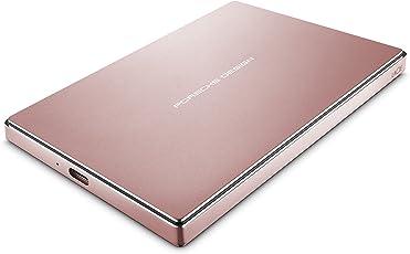 LaCie 莱斯 Porsche Design 2TB USB-C移动硬盘驱动器(玫瑰金)(STFD2000406)