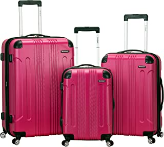 Rockland Luggage 3 Piece Sonic Upright Set 品红 均码