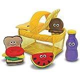 Melissa & Doug 豪華野餐籃子加填充布偶 柔軟嬰兒玩具