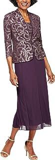 Alex Evenings 女士小号 T 型长夹克连衣裙