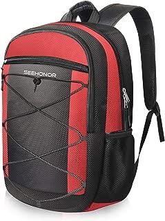 SEEHONOR 隔热冷藏背包,防漏柔软大容量冷藏袋,轻质背包冷藏袋,适合男士女士到午餐野餐野营徒步公园海滩工作旅行,25 罐