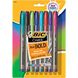 BIC Cristal Bold Ball Point Pen, Assorted, Pack of 24 - MSBAPP241-A-AST