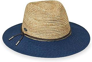 Wallaroo Hat Company 女式 Laguna 绅士帽 – 双色调宽边,可调节,优雅风格,澳大利亚设计,自然/*蓝