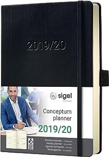 Sigel 18个月日历 HC 2019/2020 ca. A5 Wochenkalender 2019/2020