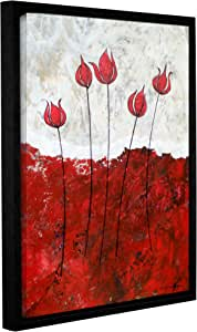 """ArtWall Herb Dickinson's Hot Blooms III Gallery Wrapped Floater Framed Canvas, 18 x 24"""""""