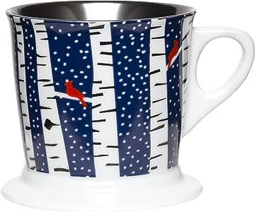 C.R. Gibson 陶瓷假日咖啡杯 桦木色 XQM9-17433