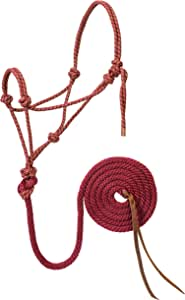 编织皮革35–7800-r22钻石编织绳吊带 & 铅*红色 / 金色平均马