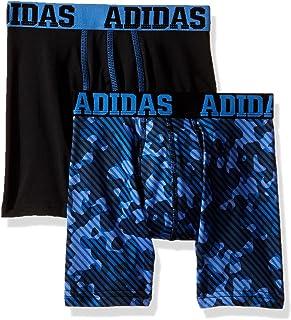adidas 男童/青年运动性能 Climalite 平角内裤(2 件装)