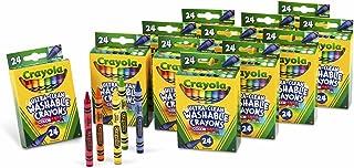 Crayola 24 支装超净可水洗蜡笔,12 包 24 支装的蜡笔;具有明快颜色的美术工具,适用于学校和家庭绘画